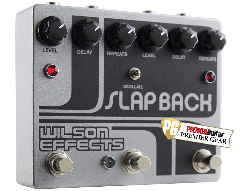 Wilson Effects Slapback Review Premier Guitar Delay Circuits Two Stage Time Circuit Cascaded Follow