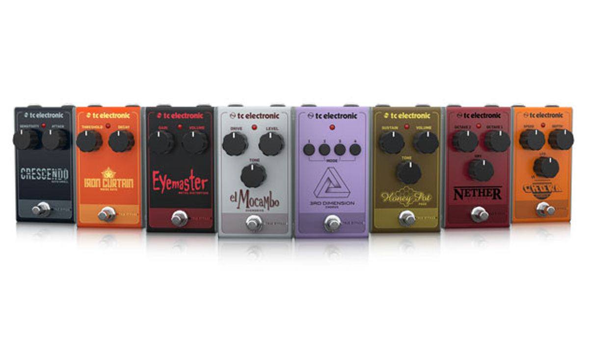TC Electronic Launches 8 New Analog Pedals