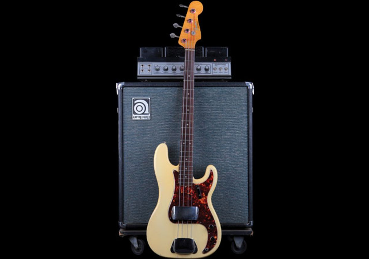 1965 Fender Precision Bass and '70s Ampeg B-15 S