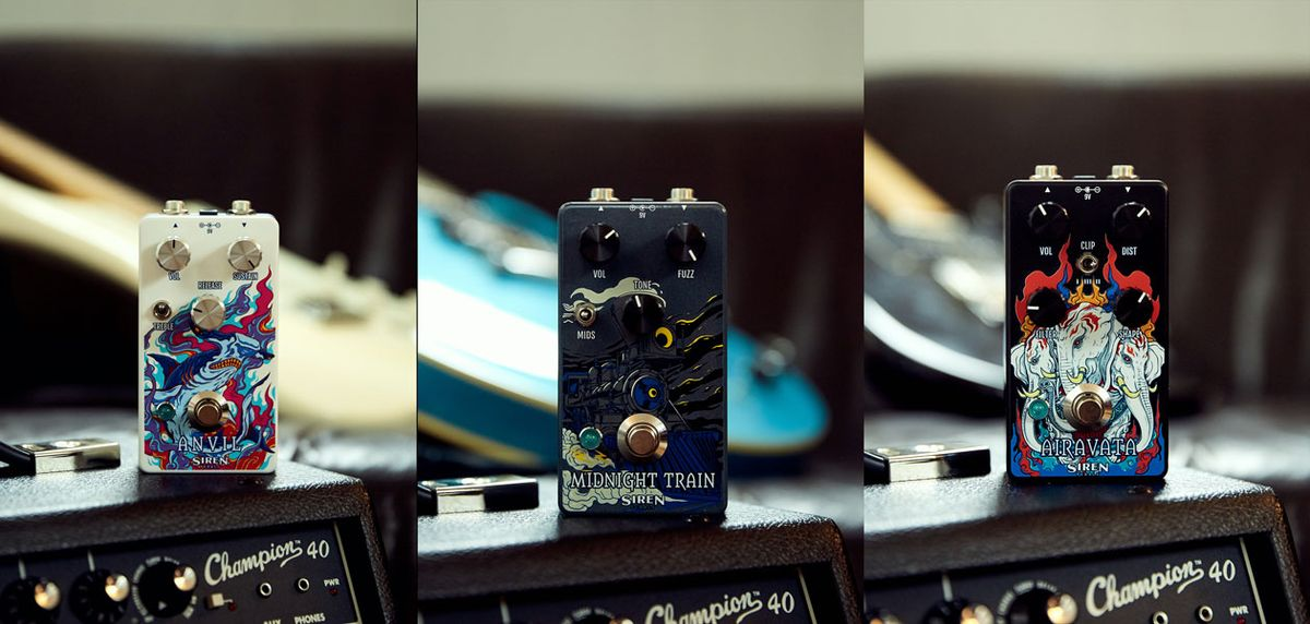 Siren Pedals Launches With the Airavata, Anvil, and Midnight Train