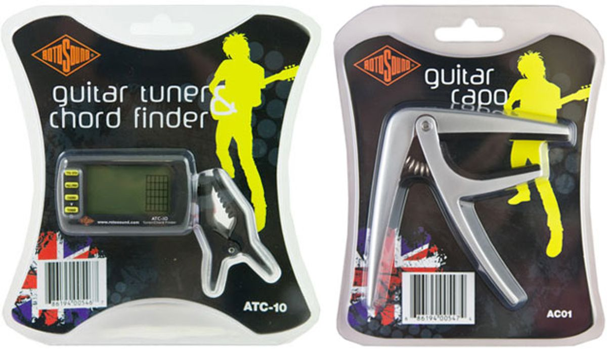 Rotosound Launches Guitar Tuner/Chord Finder and Guitar Capo
