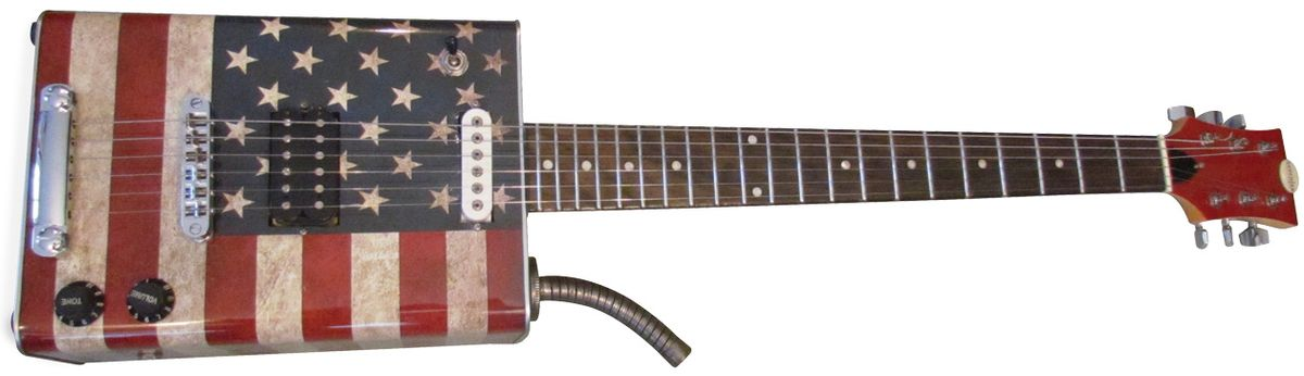 """Will Ray's Bottom Feeder: Bohemian """"Old Glory"""" Oil-Can Guitar"""