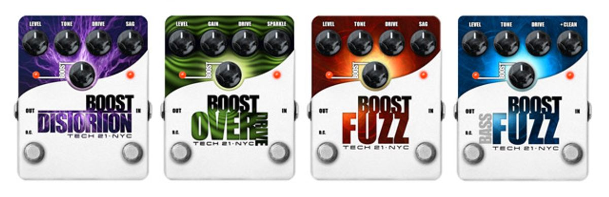 Tech 21 Adds 4 New Effects to their Boost Series Line