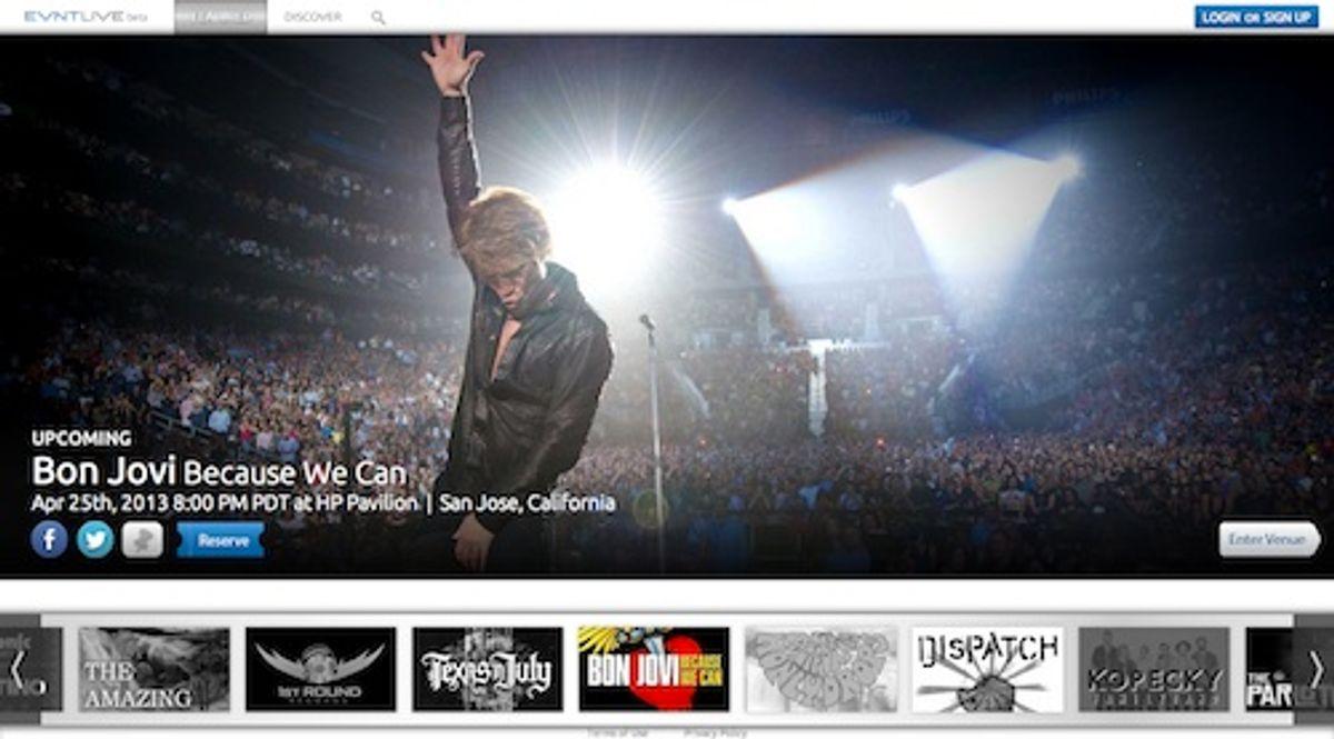 Evntlive Launches With Bon Jovi Webcast
