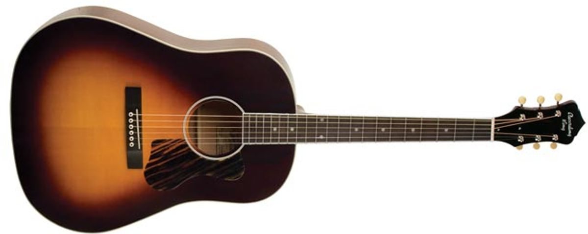 Recording King Introduces the Updated Century Jubilee Series Slope Shoulder Guitars