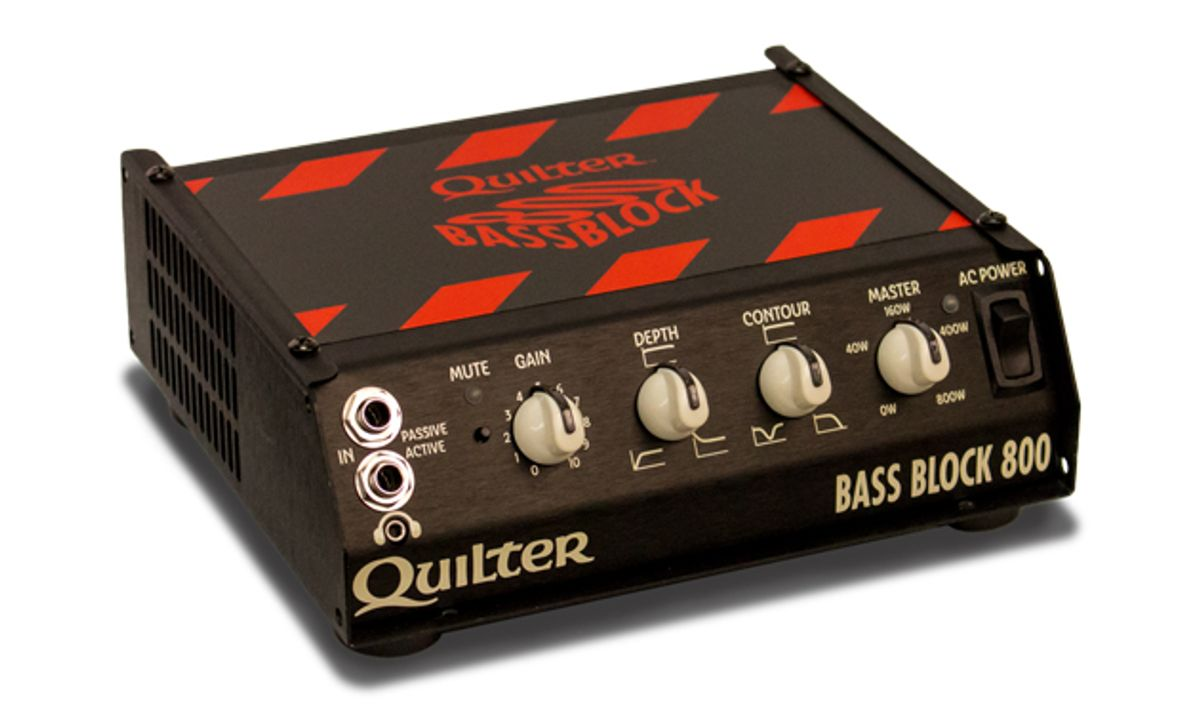 Quilter Amplification Announces the Bass Block 800