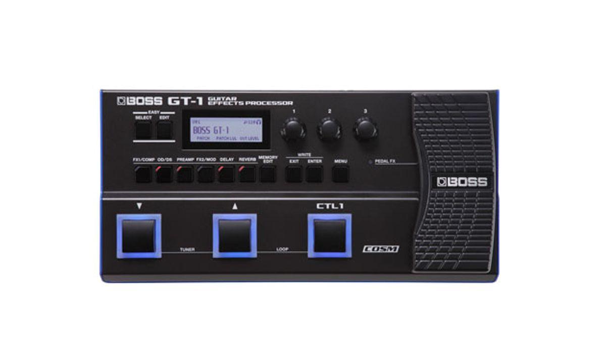 Boss Announces GT-1 Guitar Effects Processor