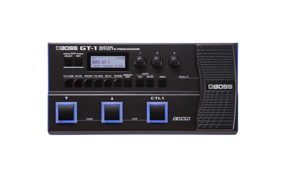 boss announces gt 1 guitar effects processor premier guitar. Black Bedroom Furniture Sets. Home Design Ideas