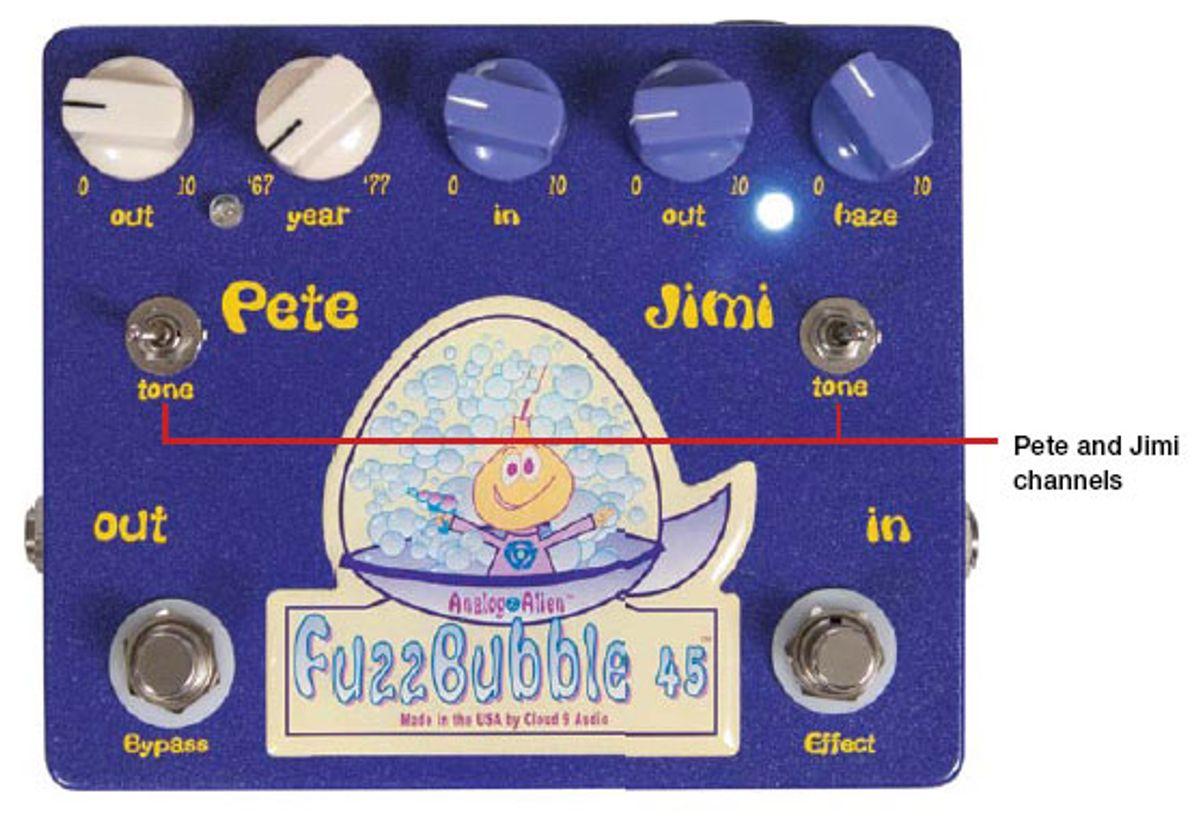Cloud 9 Audio Analog Alien Fuzzbubble-45 Pedal Review