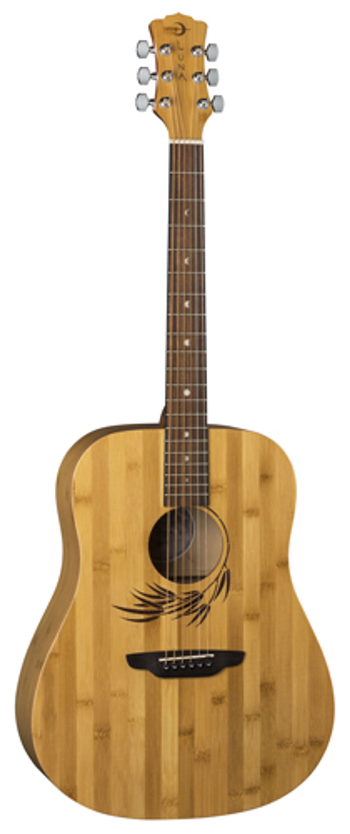 Luna Guitars Adds Woodland Bamboo Dreadnought to Acoustic Bamboo Series