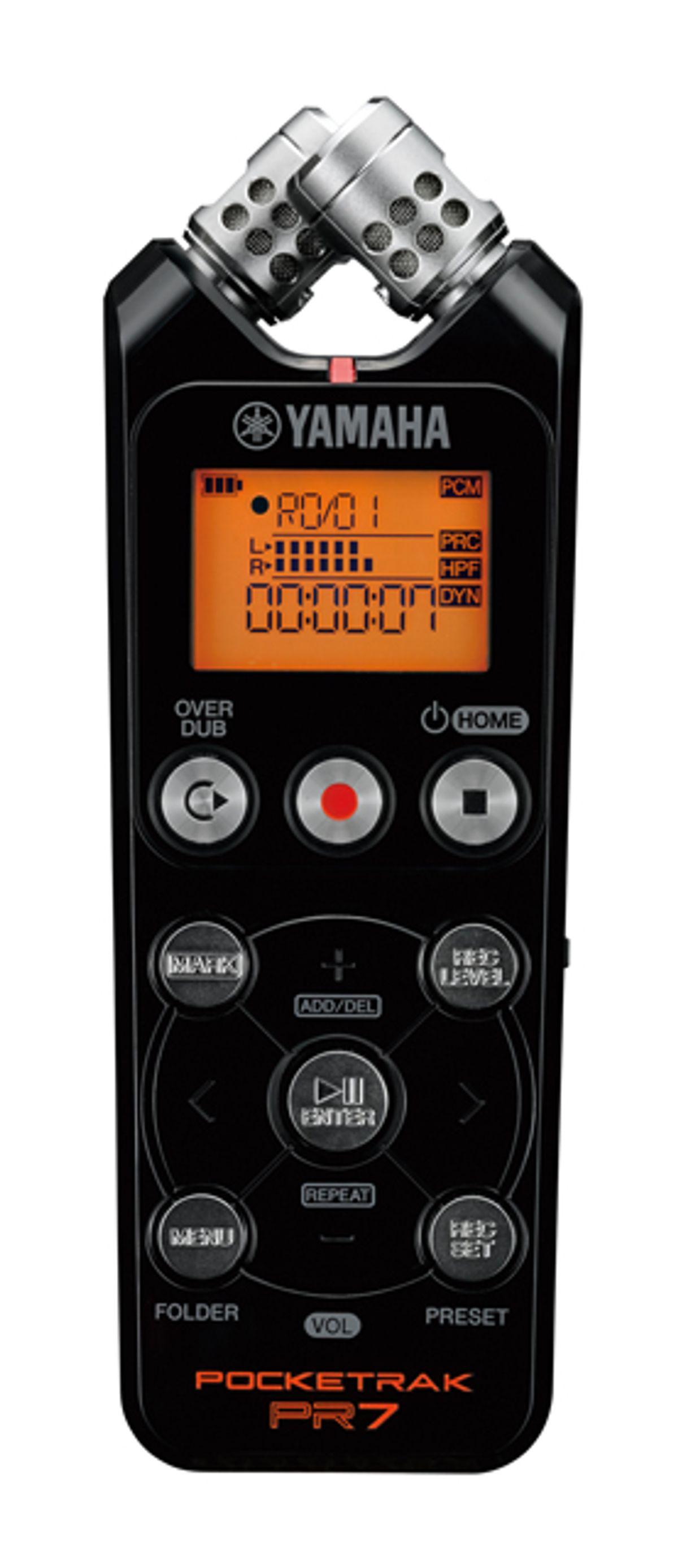 Yamaha Now Shipping Pocketrak PR7 Recorder
