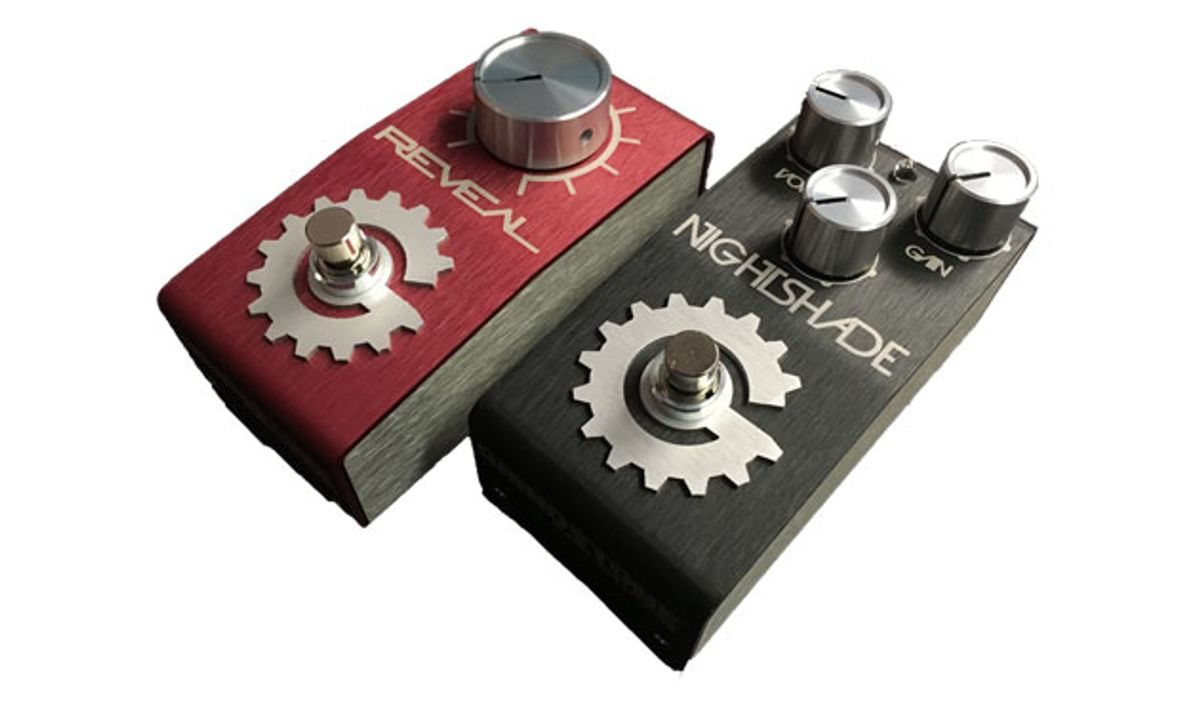 Grindstone Audio Solutions Debuts Nightshade Overdrive and Reveal Boost Pedals