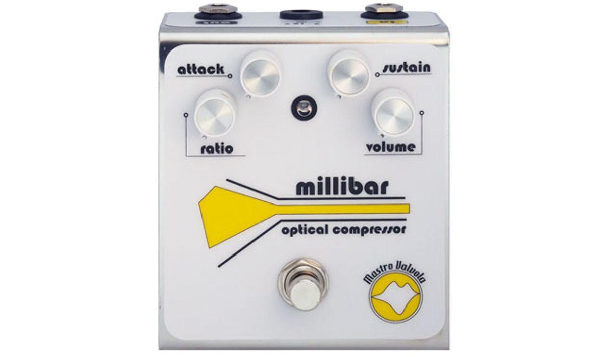 Mastro Valvola Pedals Debuts the Millibar MKII Optical Compressor