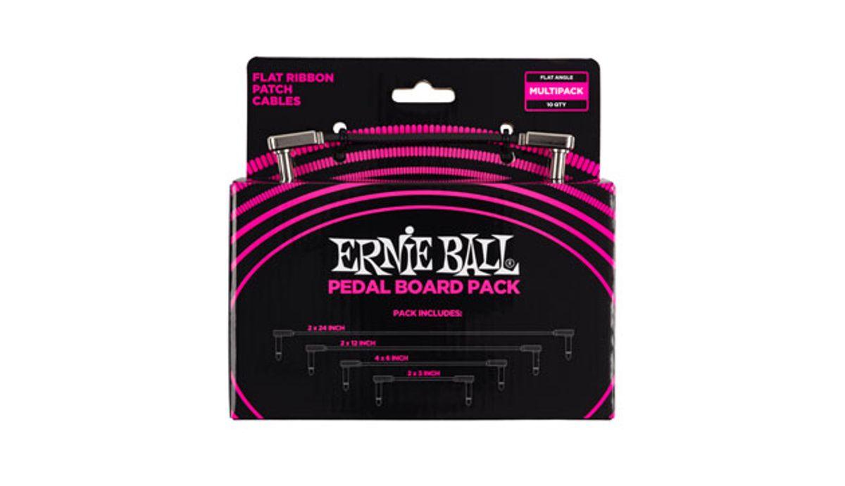 Ernie Ball Announces Flat Ribbon Patch Cables