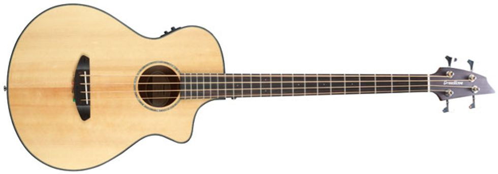 Breedlove Instruments Are Known For Their Distinctive Yet Classy Designs And The New Pursuit Acoustic Bass Guitar Follows Suit