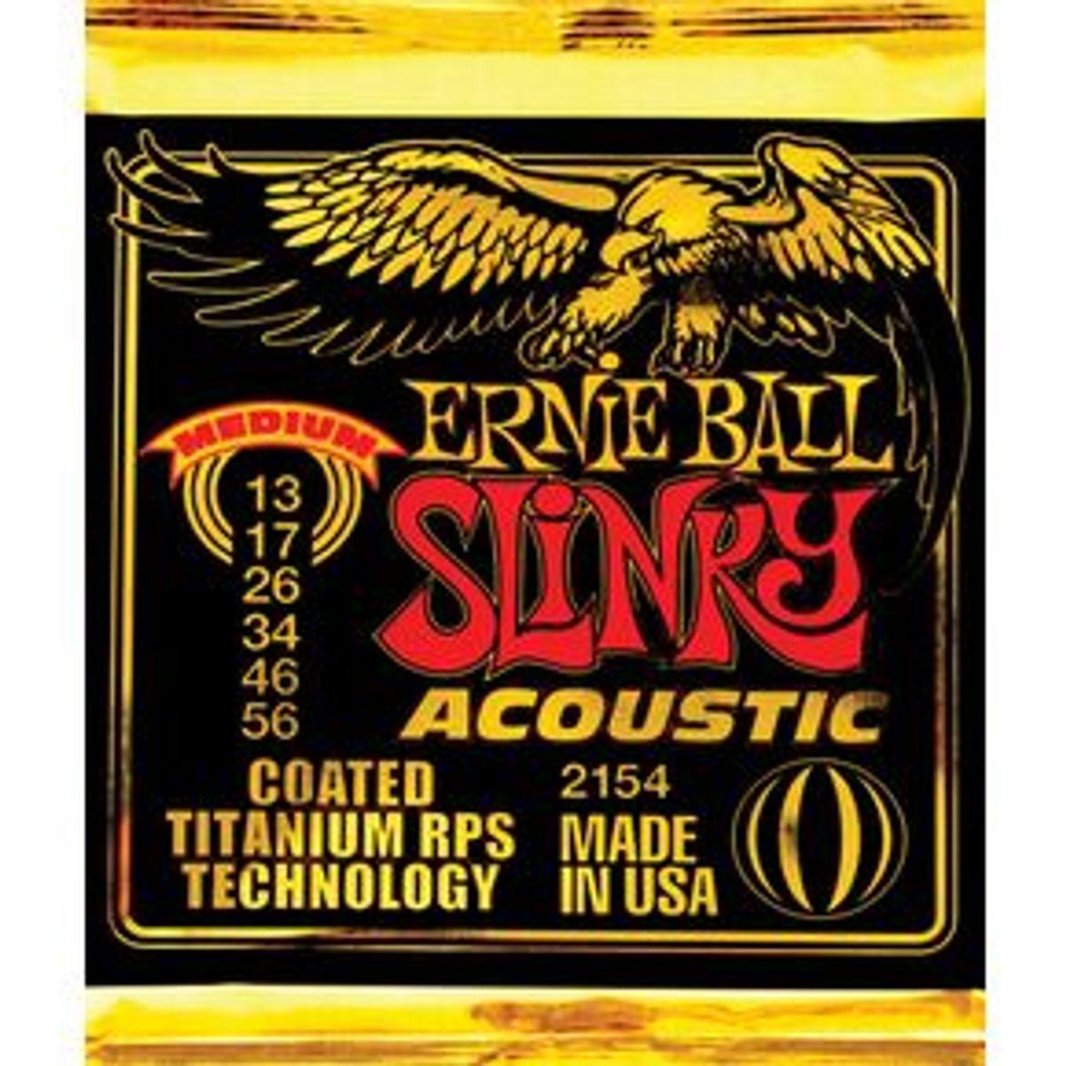 Ernie Ball Coated Titanium Slinky Acoustic Strings