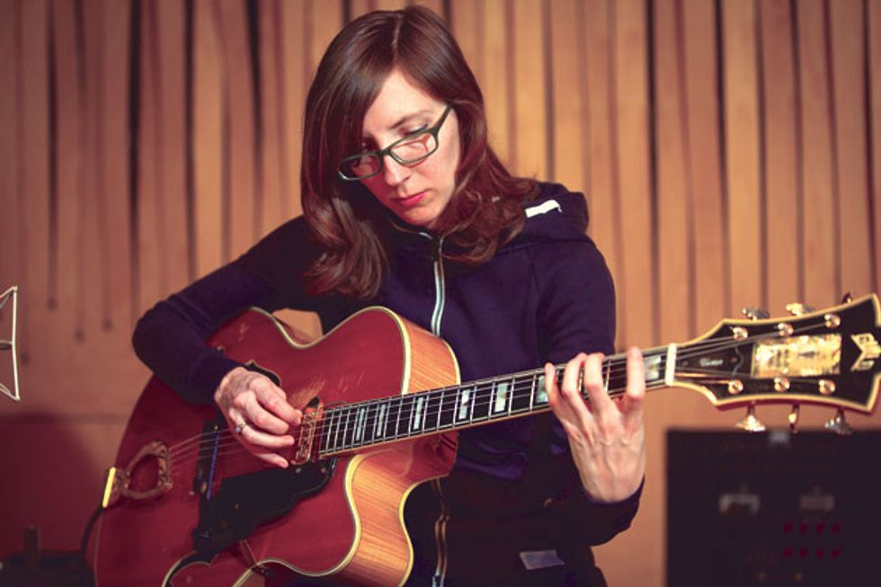 Mary Halvorson photo by Kelly Jensen for Premier Guitar magazine.