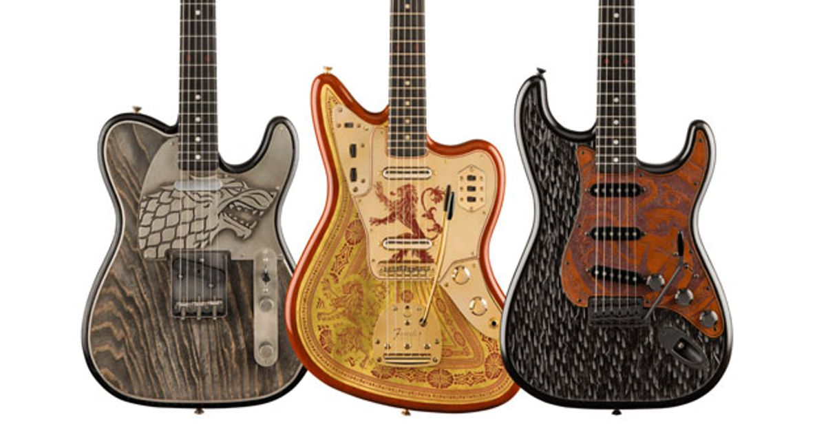 Fender Unveils the 'Game of Thrones' Sigil Collection