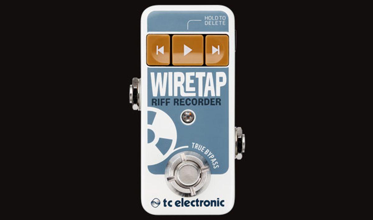 TC Electronic Announces the WireTap Riff Recorder