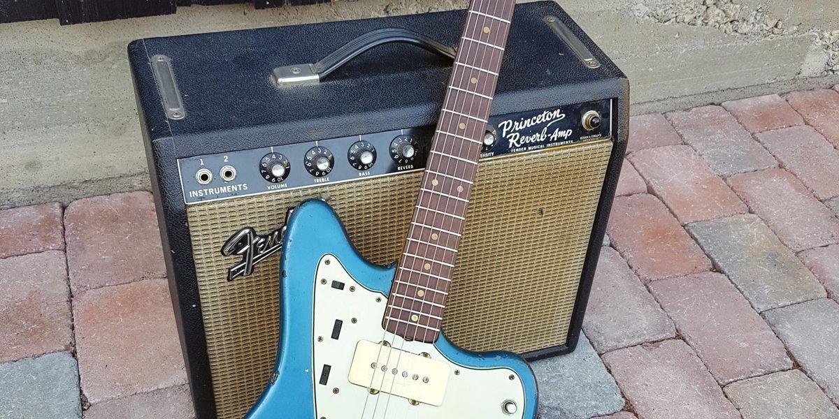 1964 Fender Princeton Reverb & 1964 Fender Jazzmaster