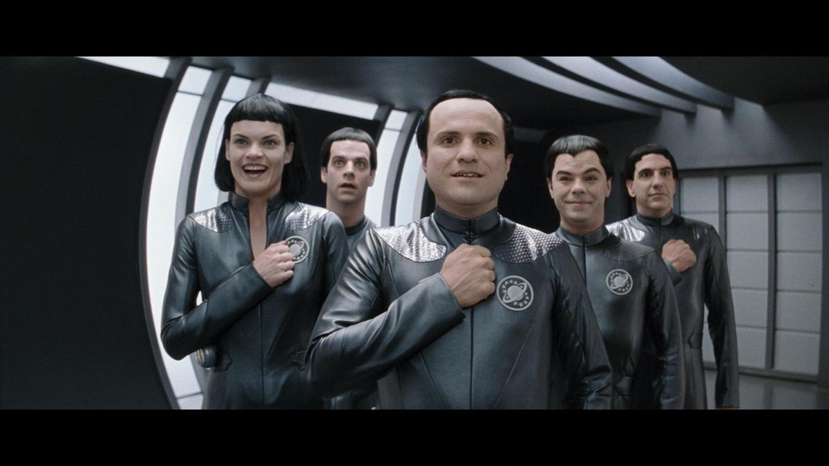 Galaxy Quest Mathesar the Thermian (center)