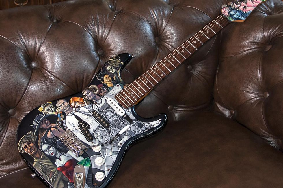 Reader Guitar of the Month: Portraits on a Plywood Epiphone