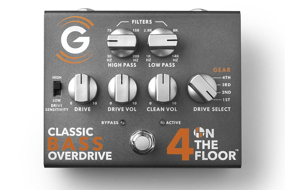 Genzler 4 on the floor bass overdrive pedal