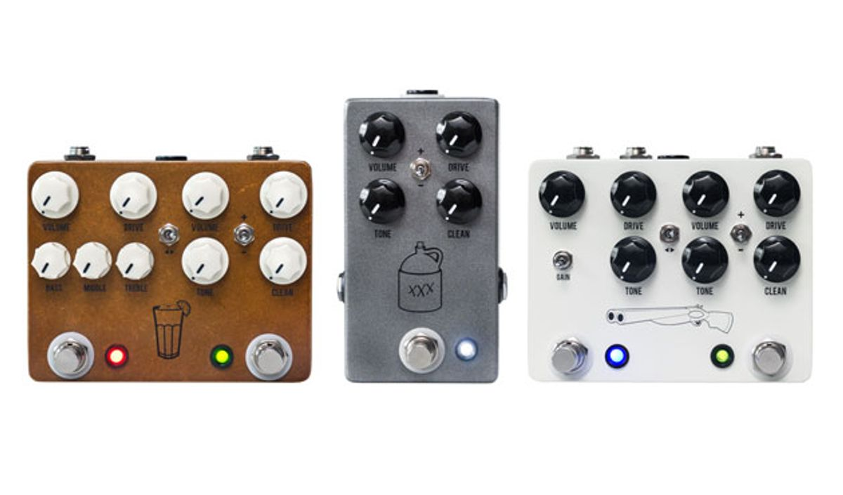 JHS Pedals Announces Updates to the Double Barrel, Sweet Tea, and Moonshine