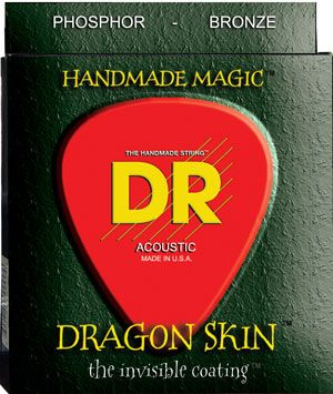 DR Strings Announces Dragon-Skin Clear Coated Acoustic Guitar Strings