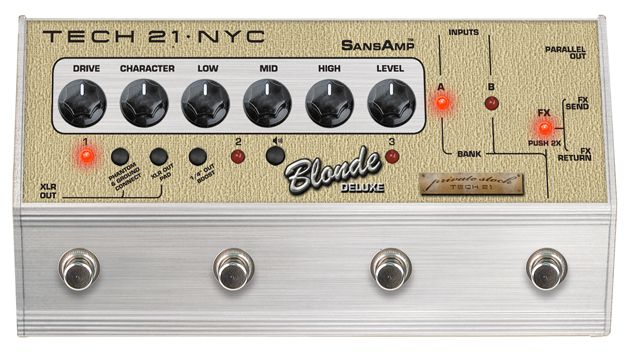 Tech 21's Blonde Deluxe SansAmp Character Series Now Shipping