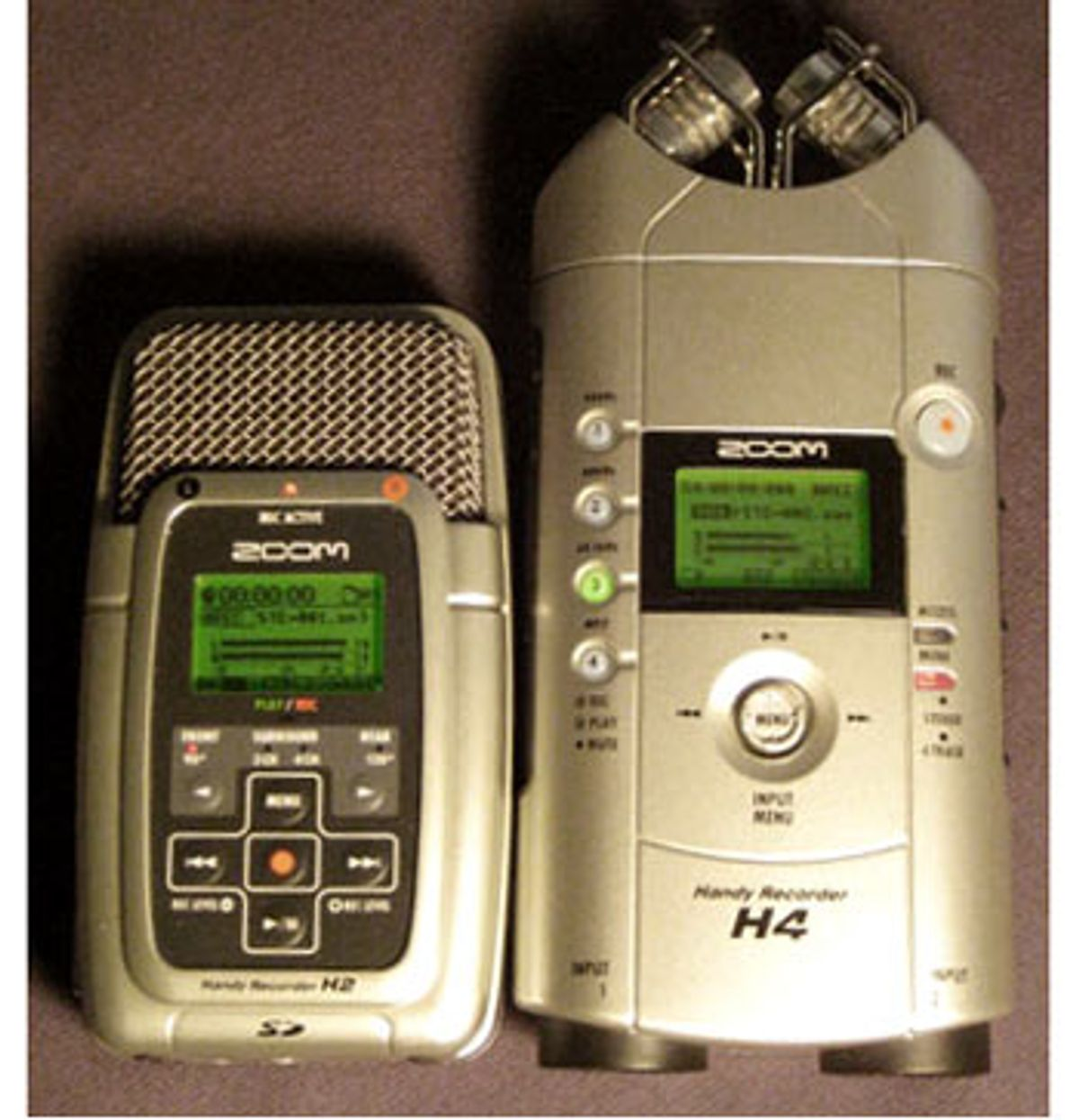 Zoom H2 and H4: Two Handy Recorders