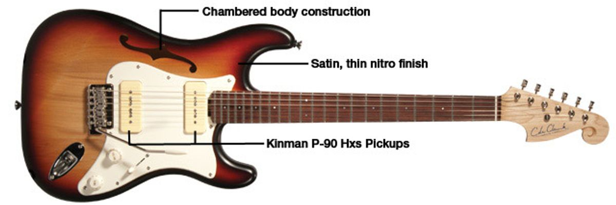 Cole Clark Hollow Baby P-90 Electric Guitar Review