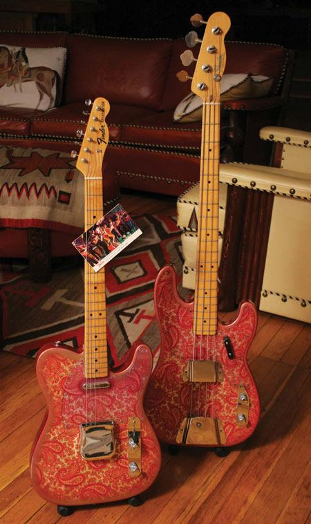 1968 Fender Paisley Telecaster and Telecaster Bass