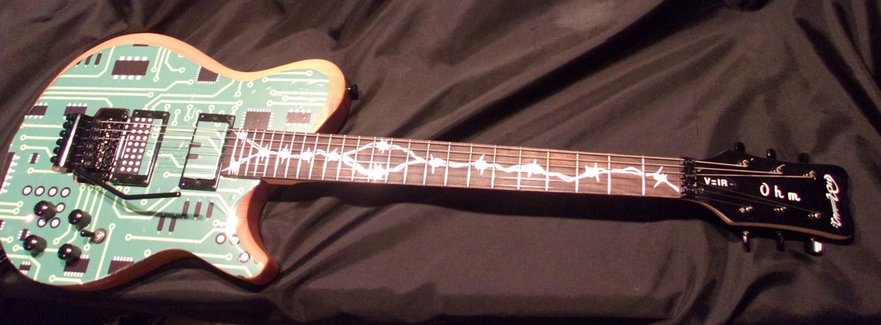 """Reader Guitar of the Month: """"Hot Wonderful"""" Circuit-Board 6-String"""