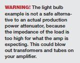 Tone Tips from the Road: Light Bulb Gear