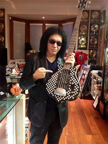 Cara Guitars and Gene Simmons Team up for the Limited Edition Chrome Axe