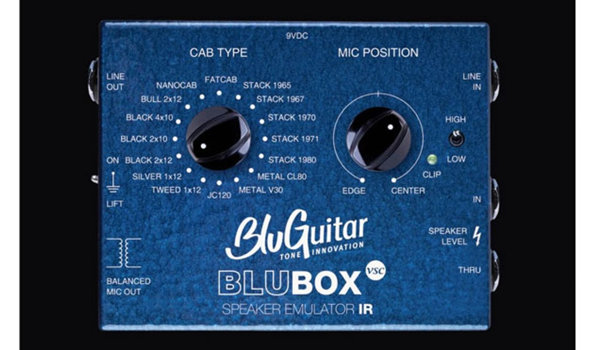 BluGuitar Releases the BluBox Virtual Speaker Collection