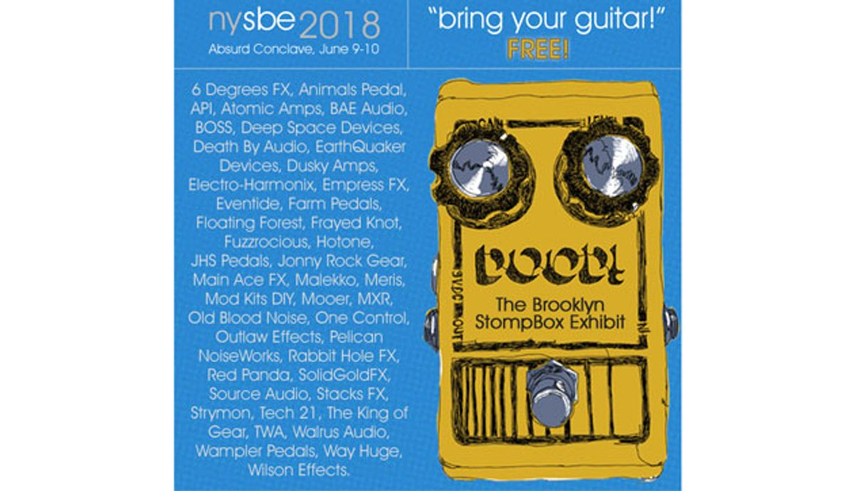 Brooklyn Stompbox Exhibit Scheduled for June 9-10