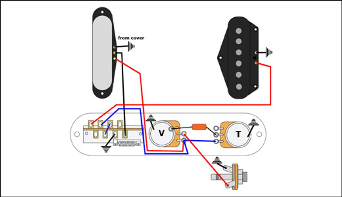 Mod Garage: Lean, Mean Series Wiring for Telecasters