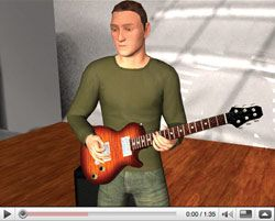 iPerform3D Debuts 3D Guitar Learning System