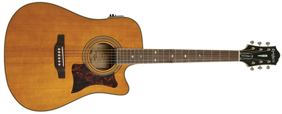 Epiphone Masterbilt DR-500MCE NA Acoustic Guitar Review