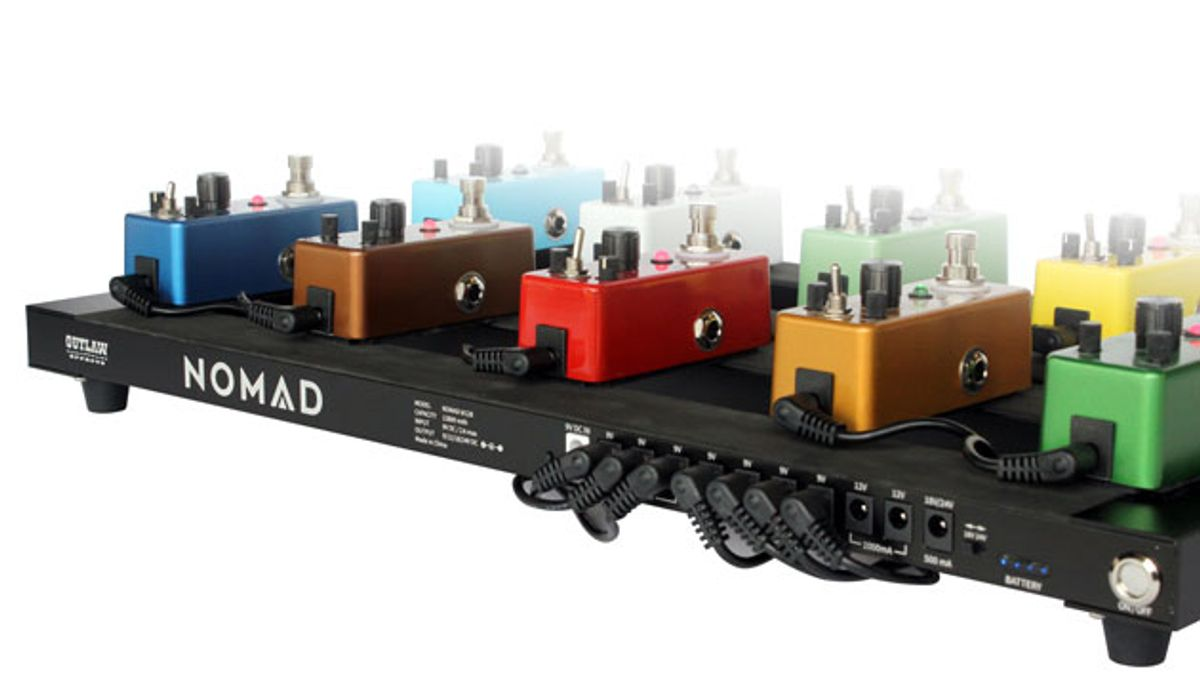 Outlaw Effects Launches the Nomad Pedalboard