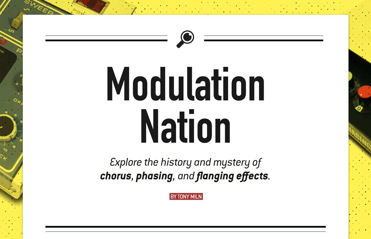 Modulation Nation: Chorus, Phasing, and Flanging