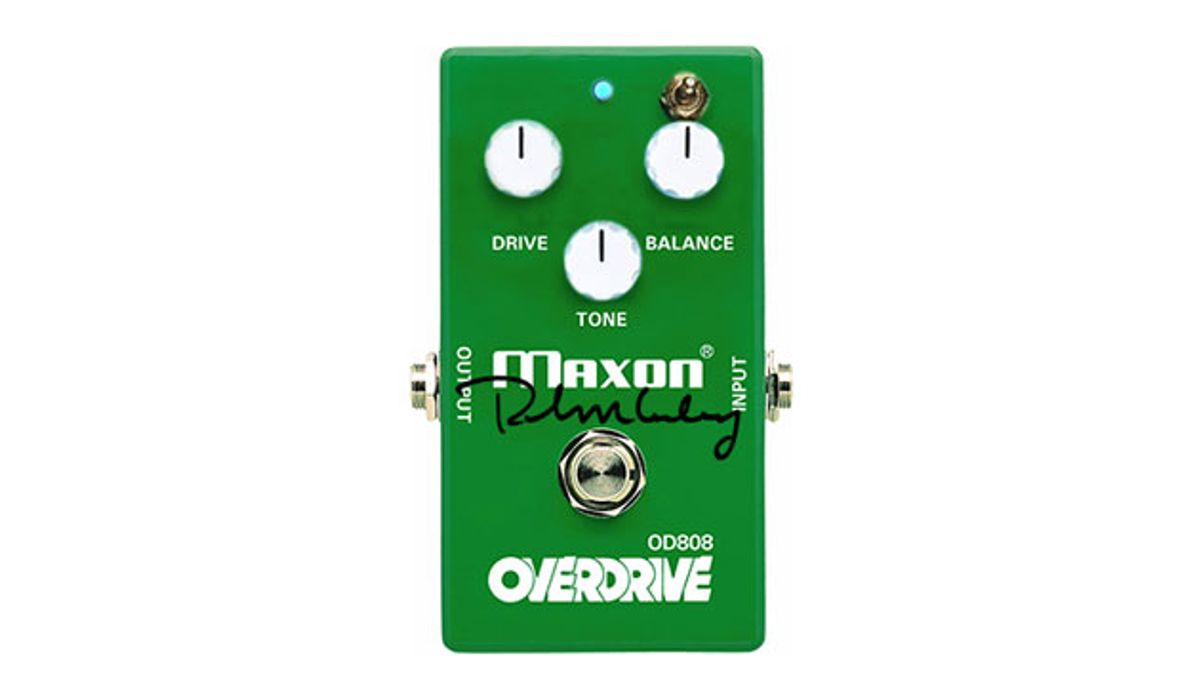 Maxon Releases 40th Anniversary Keeley-Modded OD808-40K Overdrive