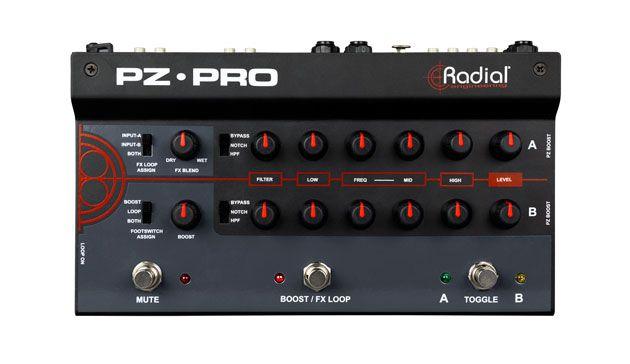 Radial Announces the PZ-Pro 2-Channel Acoustic Preamp