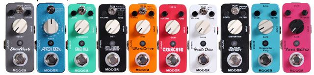 Osiamo Introduces Mooer Micro Effect Pedals