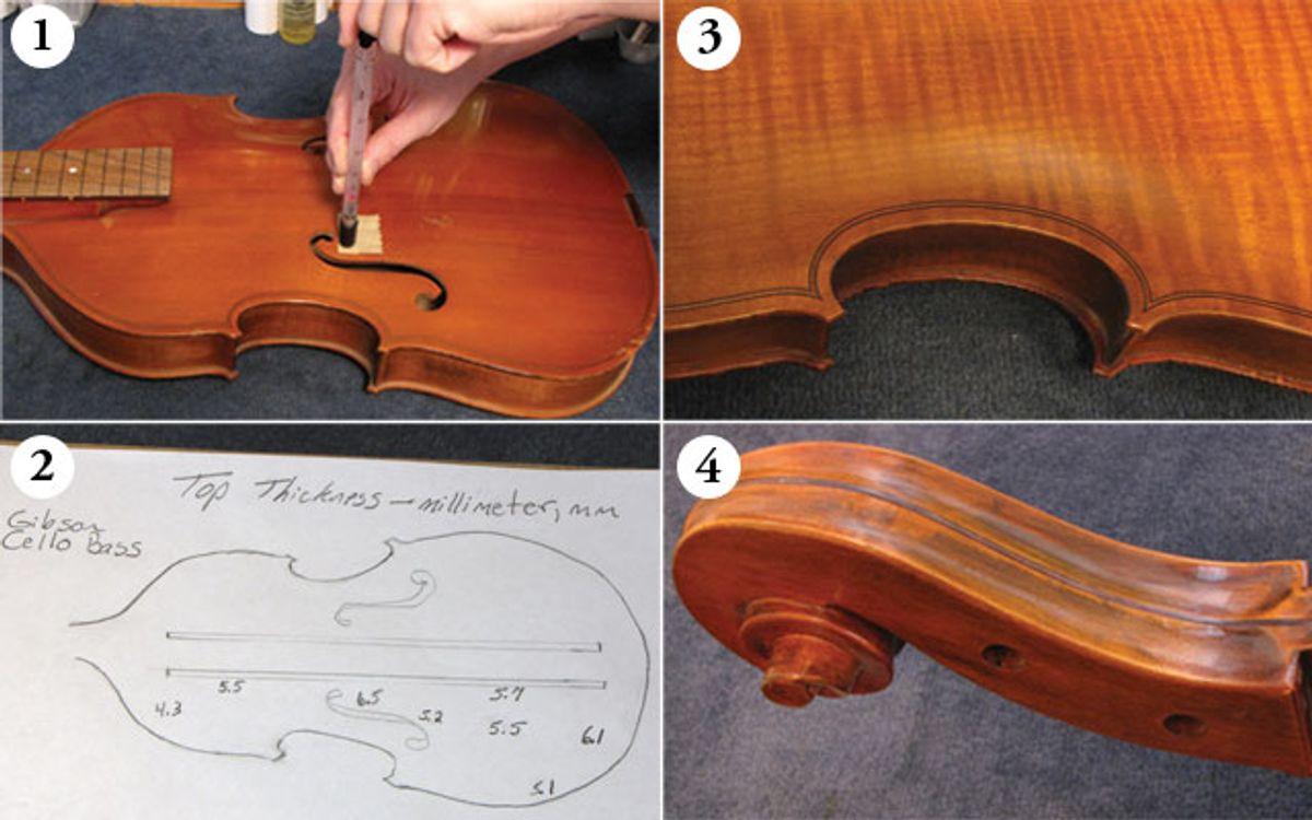 Restoring A Prototype Gibson Cello Bass