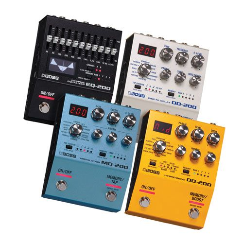 Boss Launches the 200 Pedal Series