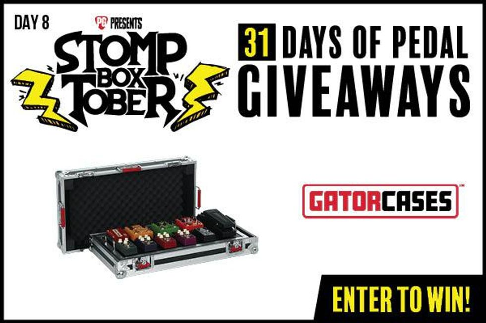 Stompboxtober Day 8: Gator Cases Large G-TOUR Pedalboard with Wheels