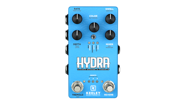 Keeley Electronics Releases the Hydra Stereo Reverb & Tremolo